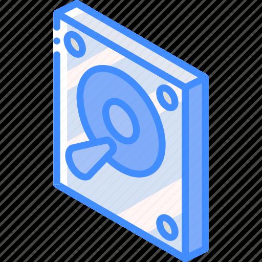 drive, essentials, hard, iso, isometric icon