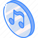 essentials, iso, isometric, music icon