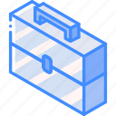 essentials, iso, isometric, toolbox icon
