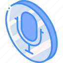 essentials, iso, isometric, microphone icon