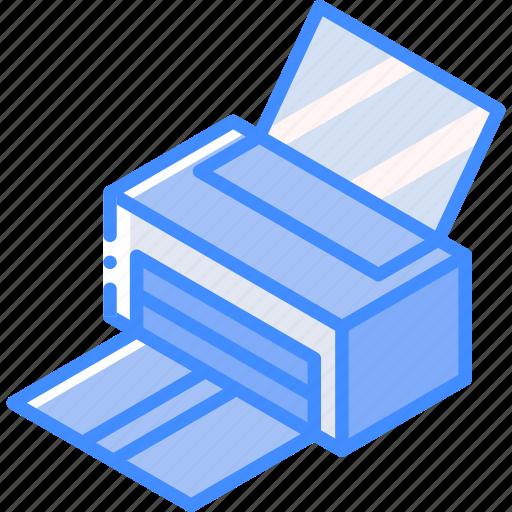 essentials, iso, isometric, print icon
