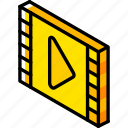 essentials, iso, isometric, movie icon