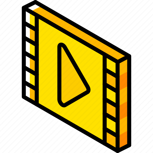 essentials, iso, isometric, movie icon