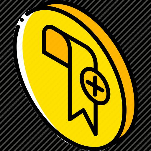 add, bookmark, essentials, iso, isometric icon