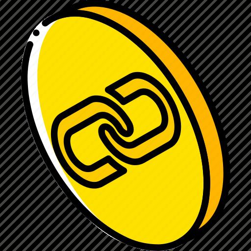 essentials, iso, isometric, link icon