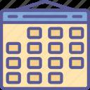 calendar, date, essentials, schedule, time