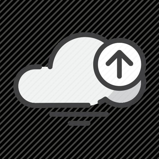 add, arrow, cloud, data, file, storage, upload icon