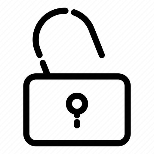 essentials, padlock, privacy, protection, safety, security, unlock icon