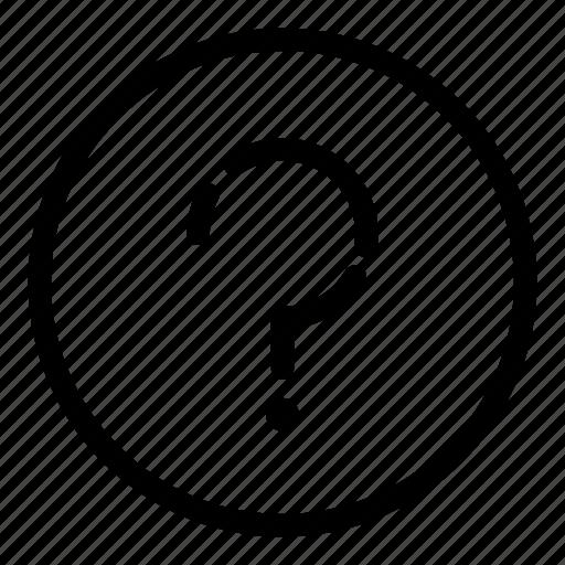ask, concept, essentials, mark, problem, question, sign icon