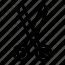 cut, scissor, scissors, silhouette, steel, tailor, tool icon