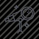 astronomy, space, stars, telescope icon
