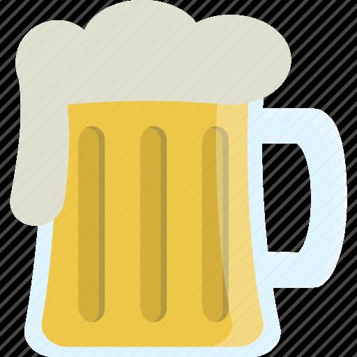 alcohol, beer, glass, mug icon