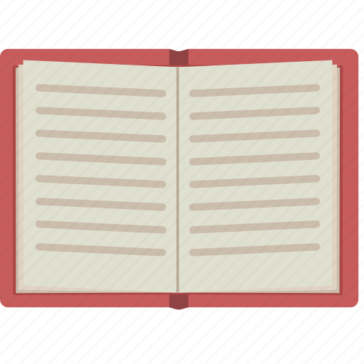 book, journal, open, open book, pages, text icon