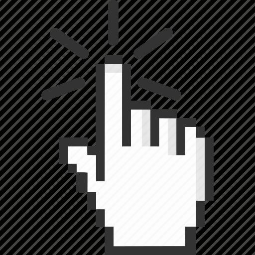 click, cursor, finger, hand icon