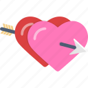 arrow, hearts, love, valentine icon