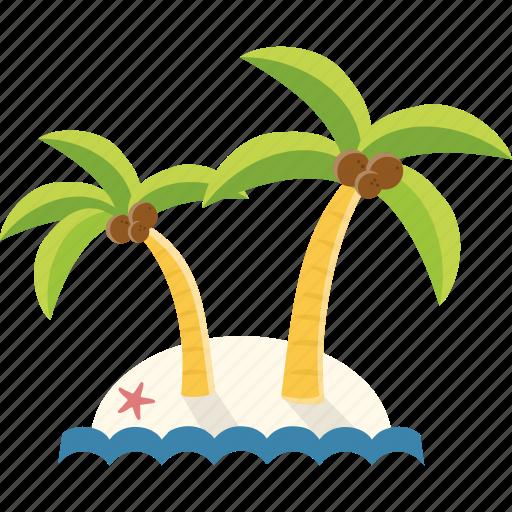 beach, holiday, island, tourism, travel, vacation icon