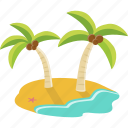 beach, holiday, island, tourism, travel, vacation icon