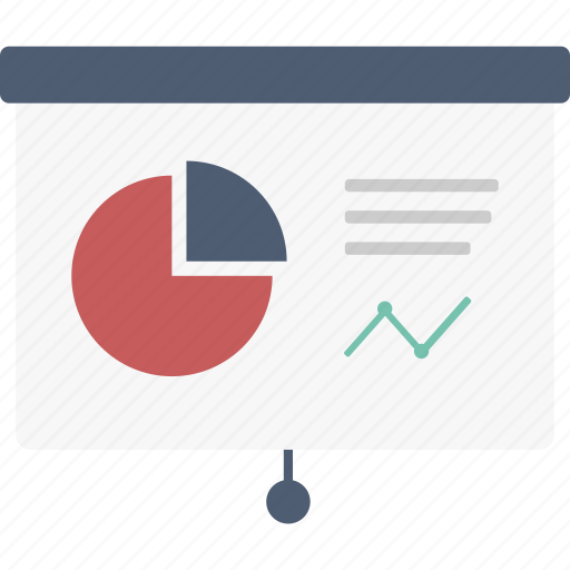 business, chart, diagram, graph, pie chart, presentation, pulldown icon