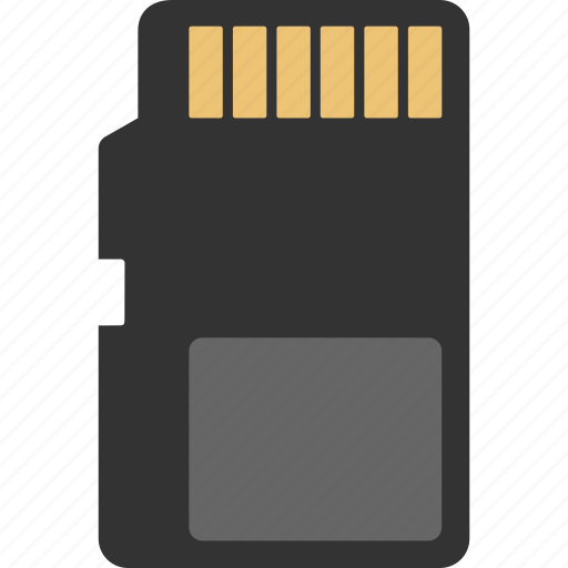 Card, memory, sd, memory card, sd card icon - Download on Iconfinder