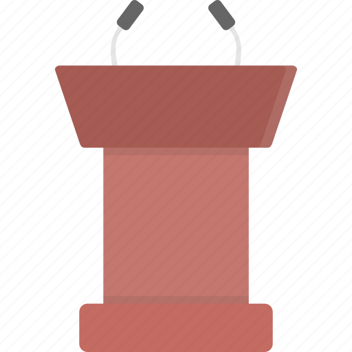 Announcement, podium, speaking, speech, stand icon - Download on Iconfinder