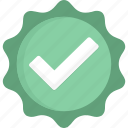 verified, badge, green, check