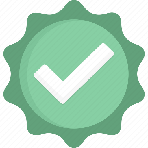 badge, check, green, verified icon