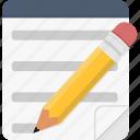 edit, note, write, wrote icon
