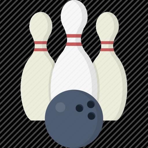 ball, bowling, bowling ball, bowling pins, game, pin, pins icon