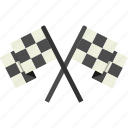 checkered, flags