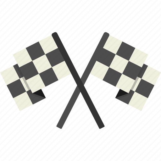 checkered, flags icon