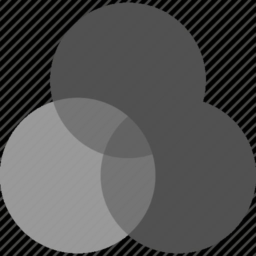 combine, overlay, venn, venn diagram icon