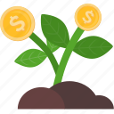 coins, growth, plant, business, finance, marketing, money
