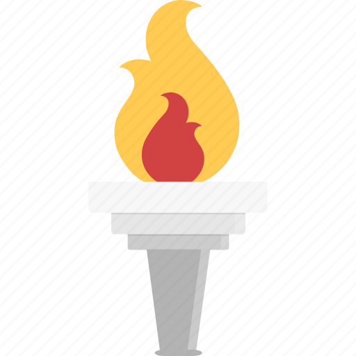 Olympic, torch, flame icon - Download on Iconfinder