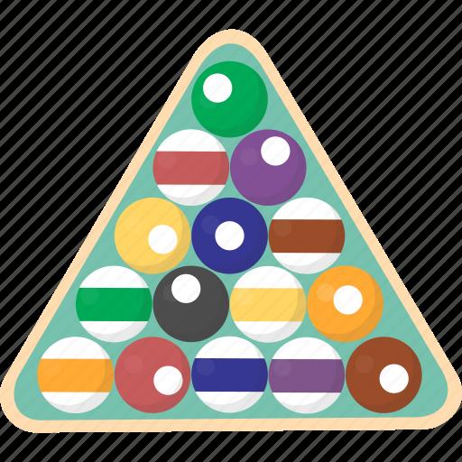 Billiards, pool, rack, triangle, balls, billiard icon - Download on Iconfinder