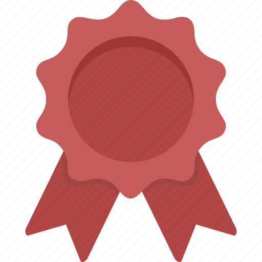 Ribbon, prize, winner, award, red, red ribbon, achievement icon