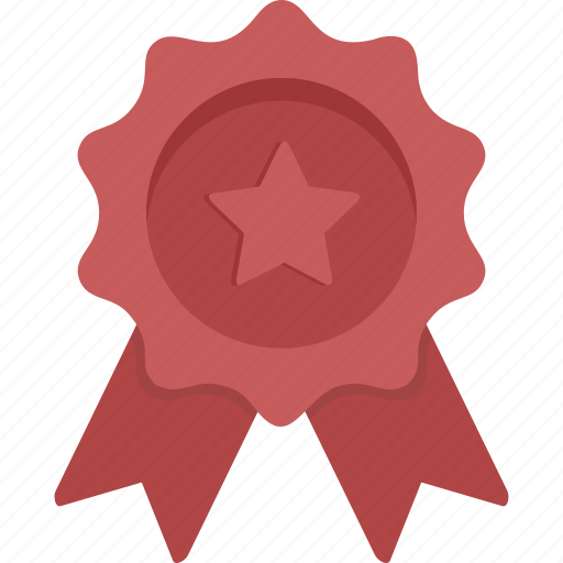 Ribbon, star, achievement, award, prize, red ribbon, winner icon - Download on Iconfinder