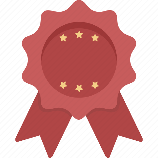 Ribbon, stars, achievement, award, prize, red ribbon, winner icon - Download on Iconfinder
