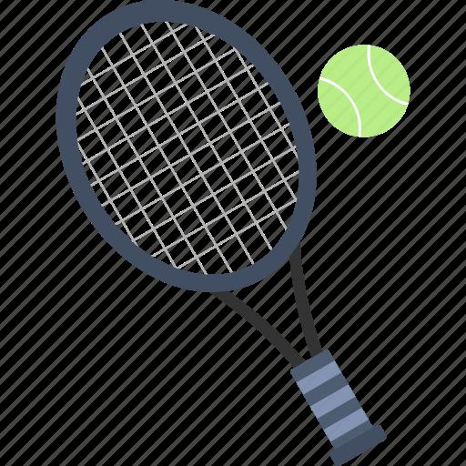ball, racket, tennis, tennis ball, tennis racket icon
