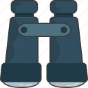 binoculars, find, search, view icon