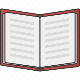 book, open, pages icon