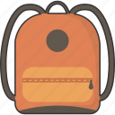 bag, bookbag, knapsack, rucksack, school icon