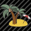 beach, island, vacation icon