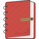 book, diary, entry, journal icon