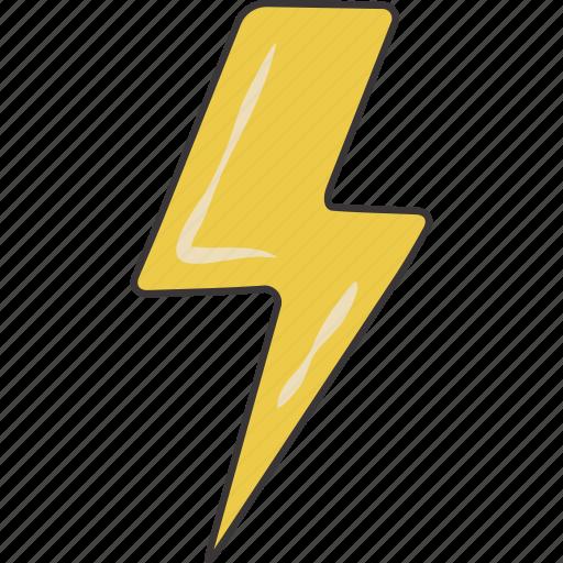 bolt, lightning icon