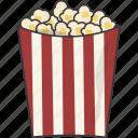 movie, popcorn, snack icon