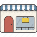 front, market, shop, store