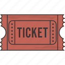event, movie, ticket icon