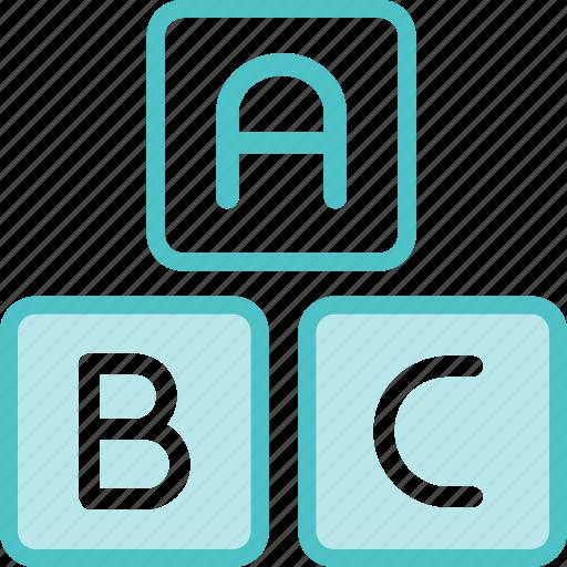 abc, blocks, building, toy icon