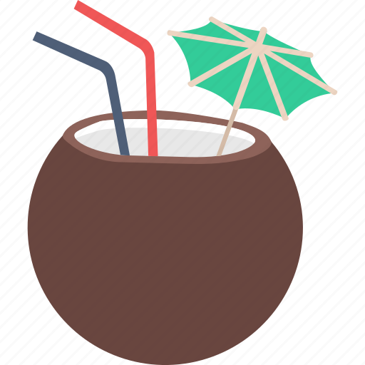 coconut, coconut drink, drink, tropical, tropical drink icon