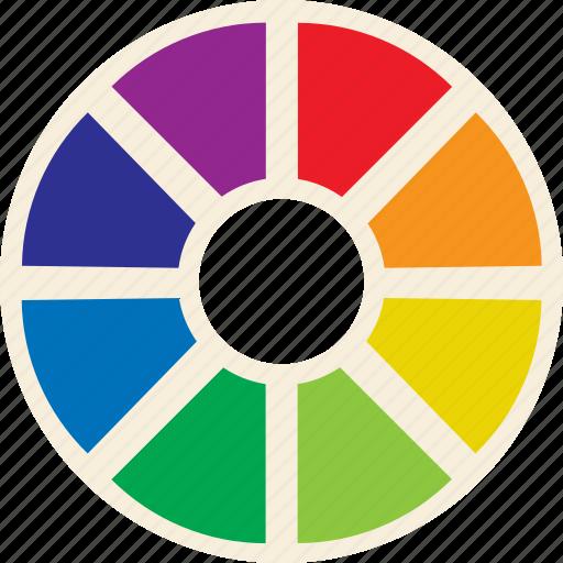 Color, wheel, color wheel icon